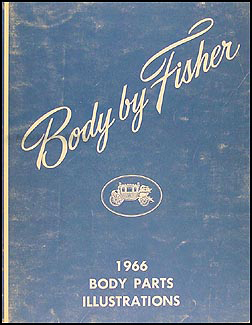 1966 Fisher Body Original Body Parts Illustration Book
