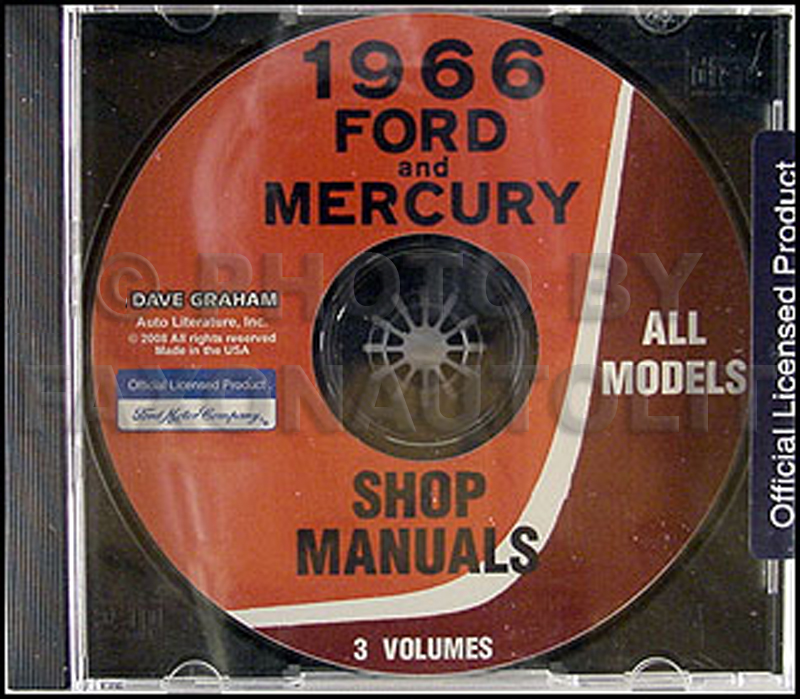 1966 Ford CD-ROM Shop Manual for Cars, Vans, and Econoline
