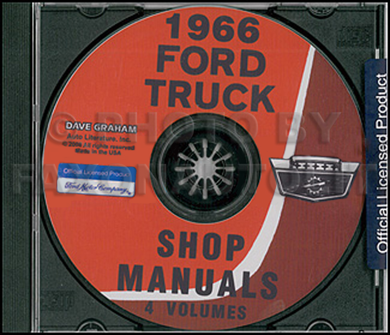1966 Ford Truck Shop Manual Set on CD-ROM