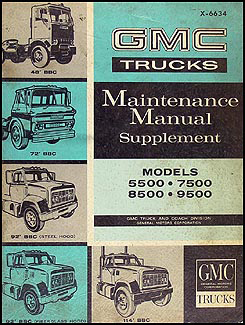 1966 GMC 5500-9500 Medium & Heavy Duty Shop Manual Original Supplement