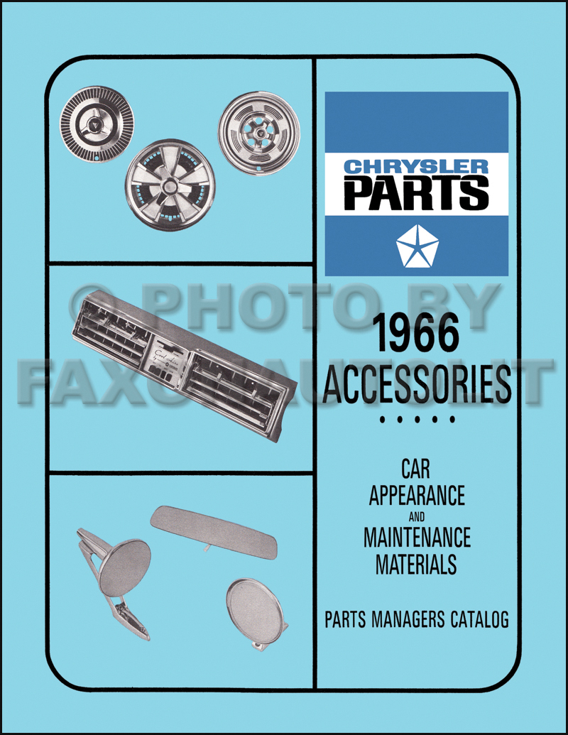 1966 MoPar Accessories Parts Book Reprint