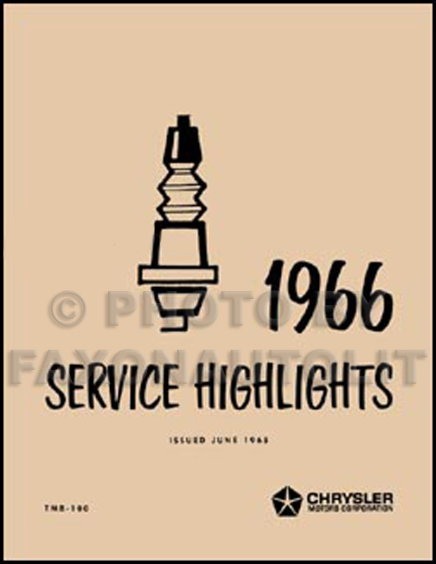 1966 Mopar Service Highlights Manual Reprint