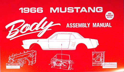1966 Ford Mustang Exploded View Parts Illustration Manual Reprint