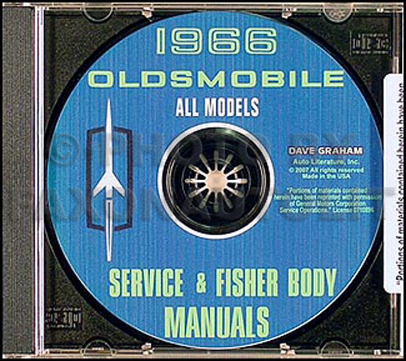 1966 Oldsmobile CD Shop Manual & Body Manual