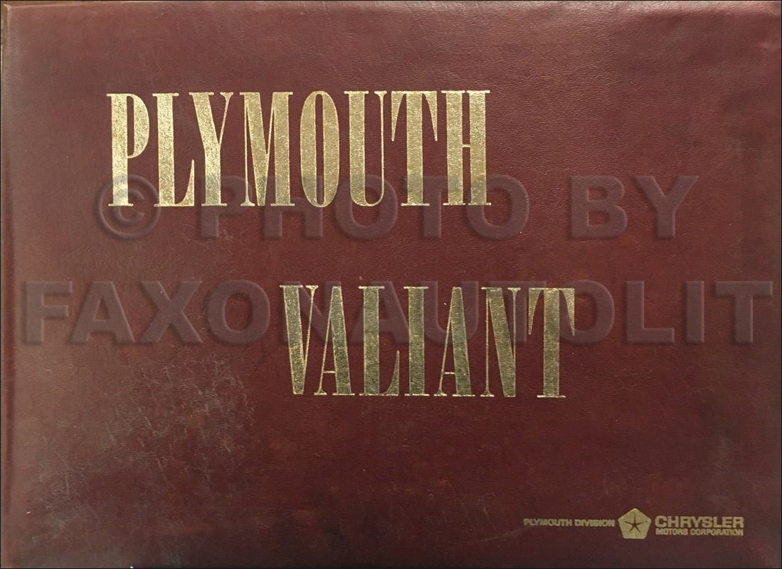 1966 Plymouth Color & Upholstery Dealer Album Original Large Size