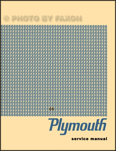 1966 Plymouth Shop Manual Reprint