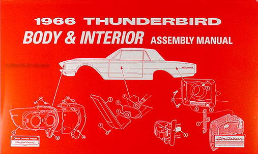 1966 Ford Thunderbird Wiring Diagram Manual Reprint