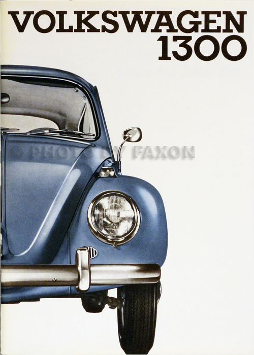 1966 Volkswagen 1300 Bug Owner's Manual Original
