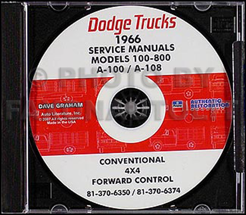 1966 Dodge Truck & 1966-1967 Van CD-ROM Shop Manual