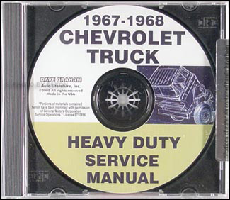 1967-1968 Chevrolet 70-80 Heavy Truck Service Manual CD