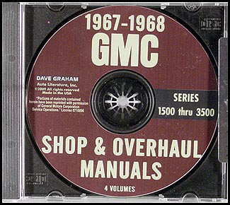 1967-1968 GMC Truck 1500-3500 Shop Manuals on CD-ROM