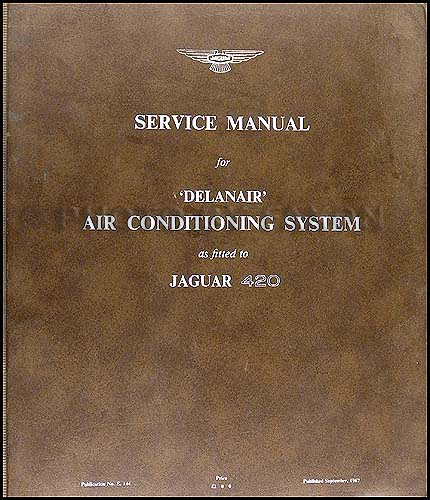 1967-1968 Jaguar 420 Air Conditioning Manual Original