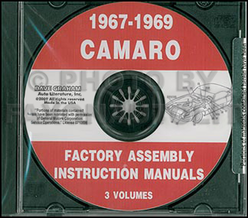 CD 1967-1969 Camaro Factory Assembly Manual including RS SS Z28
