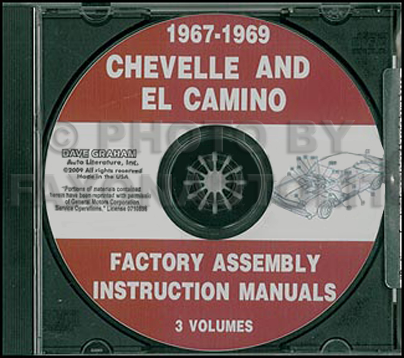 1969 Chevelle Assembly Manual Reprint El Camino Malibu