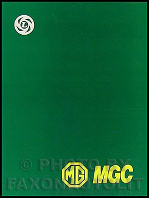 1967-1969 MGC Repair Manual Reprint