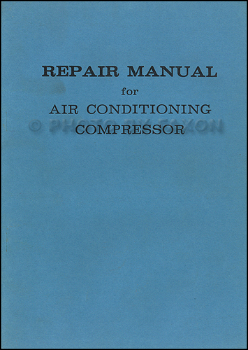 1967-1969 Toyota A/C Compressor Manual Original
