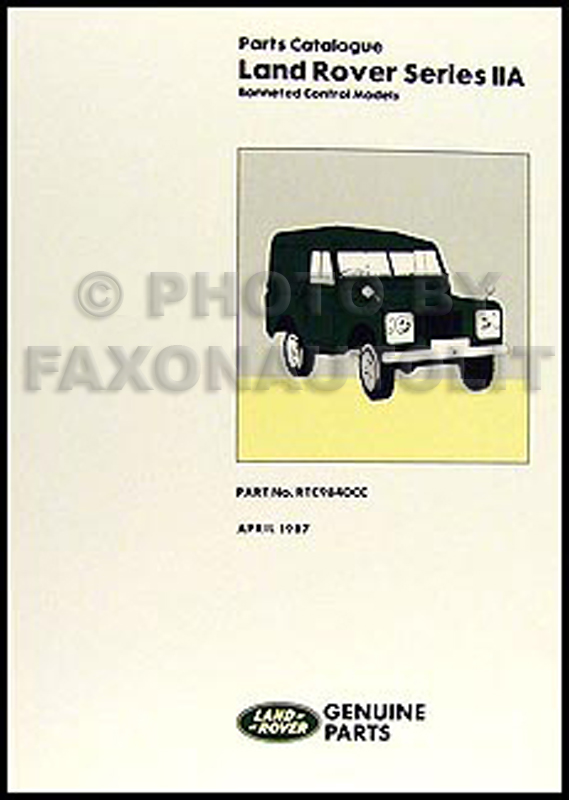 1967-1970 Land Rover Series IIA Parts Book Reprint