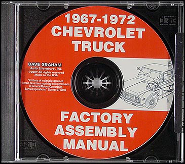 CD-ROM 1967-1972 Chevrolet Truck GMC Assembly Manual Pickup Suburban Blazer Jimmy