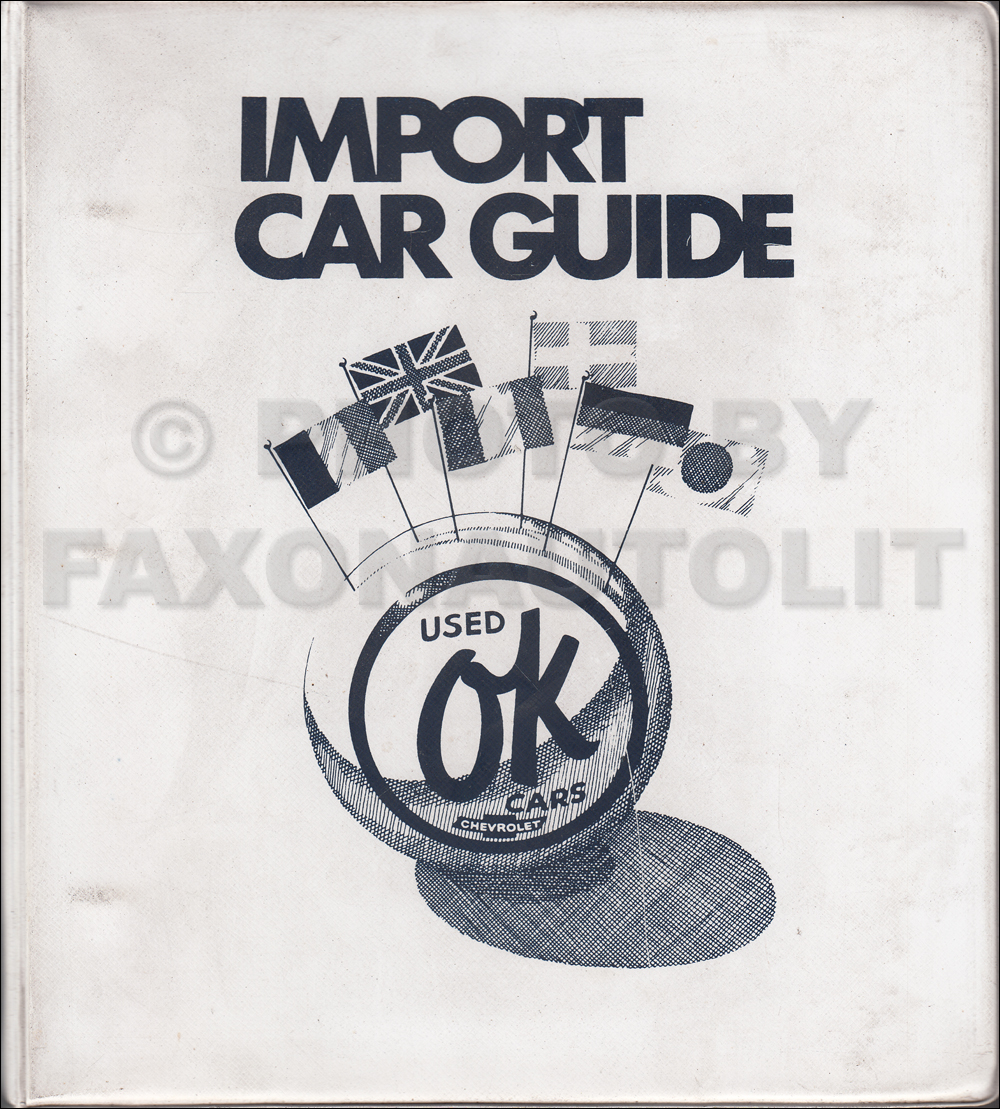 1967-1972 Chevrolet Import Used Car Data Book Dealer Album Original