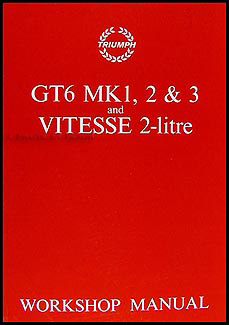 1967-1973 Triumph GT6 and Vitesse Repair Manual Reprint