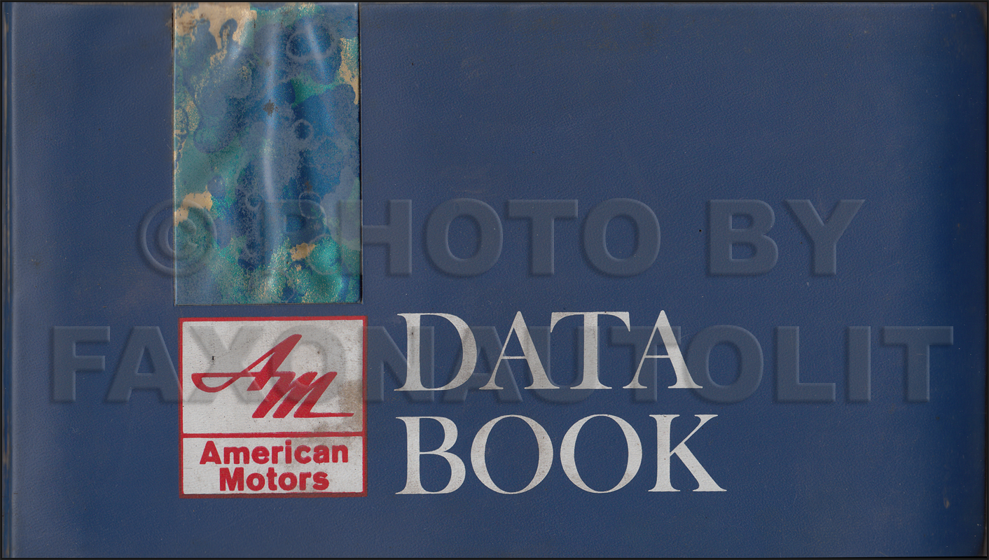 1967 AMC Data Book Original