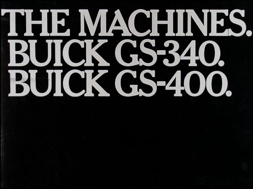 "1967 Buick GS Color Catalog Original ""The Machines. Buick GS-340. Buick - 400."""