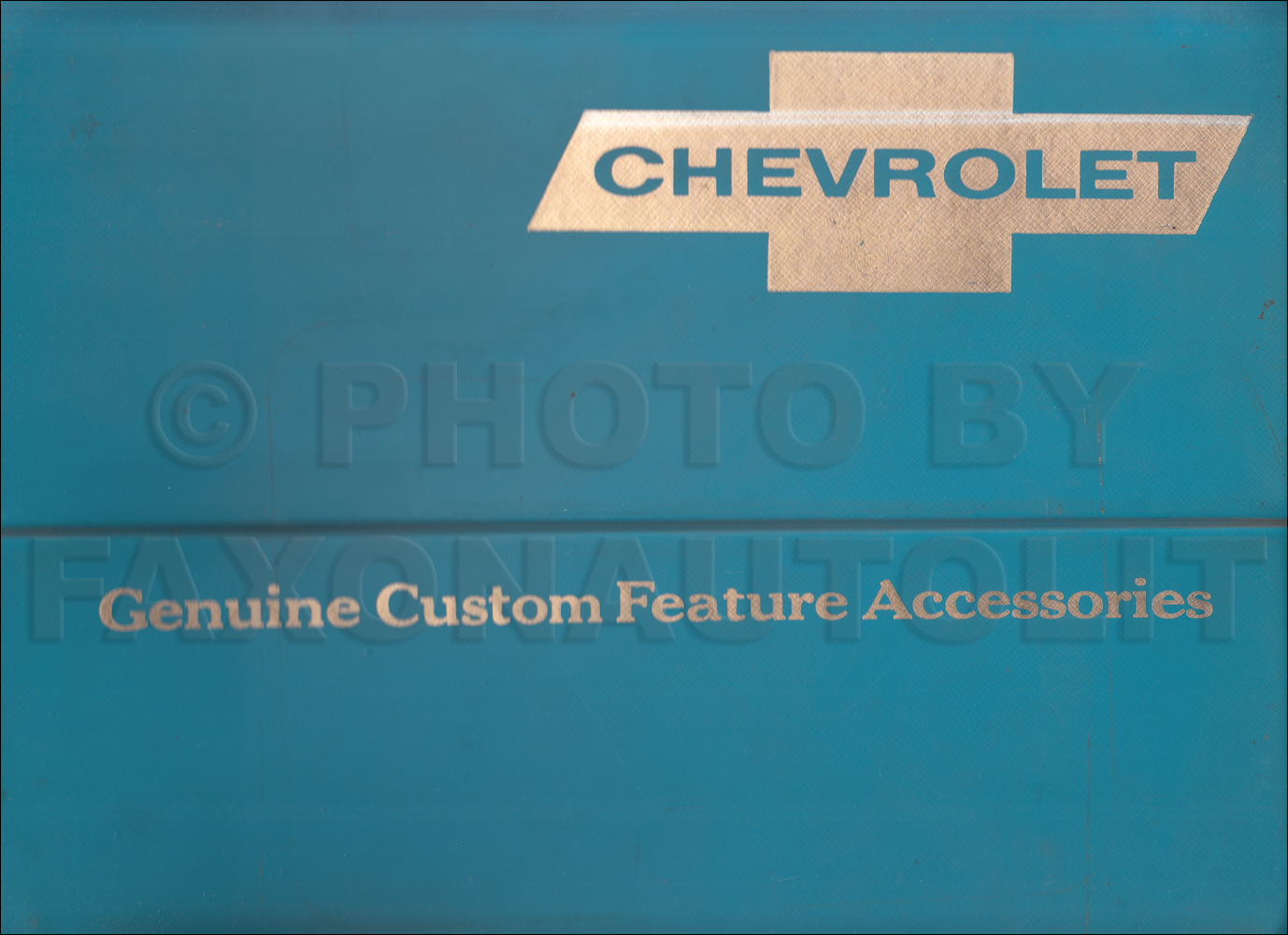 1967 Chevrolet Custom Feature Accessories Dealer Album Original