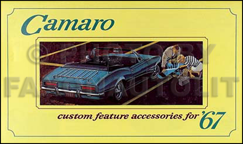 1967 Camaro Reprint Accessory Brochure Set with RS, SS, Z28
