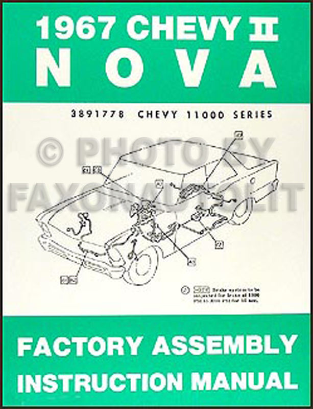 1967 Chevy II & Nova Bound Reprint Assembly Manual