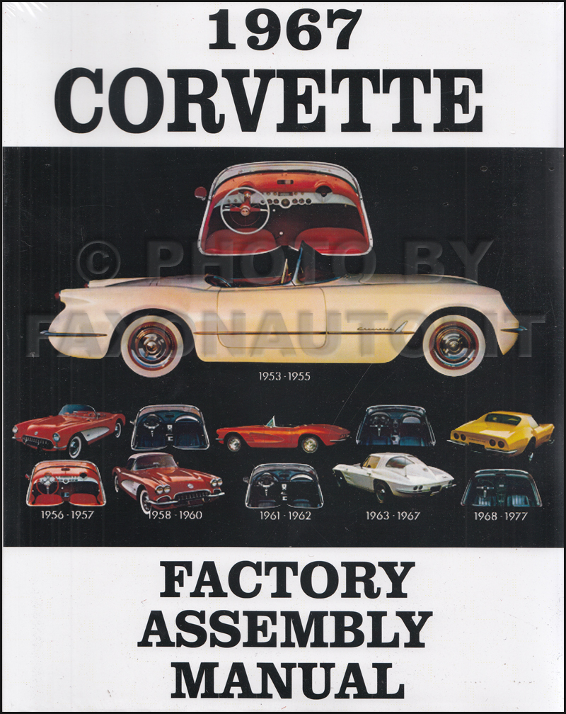1967 1968 Corvette Wiring Diagram Manual Reprint 1961 Schematic Factory Assembly