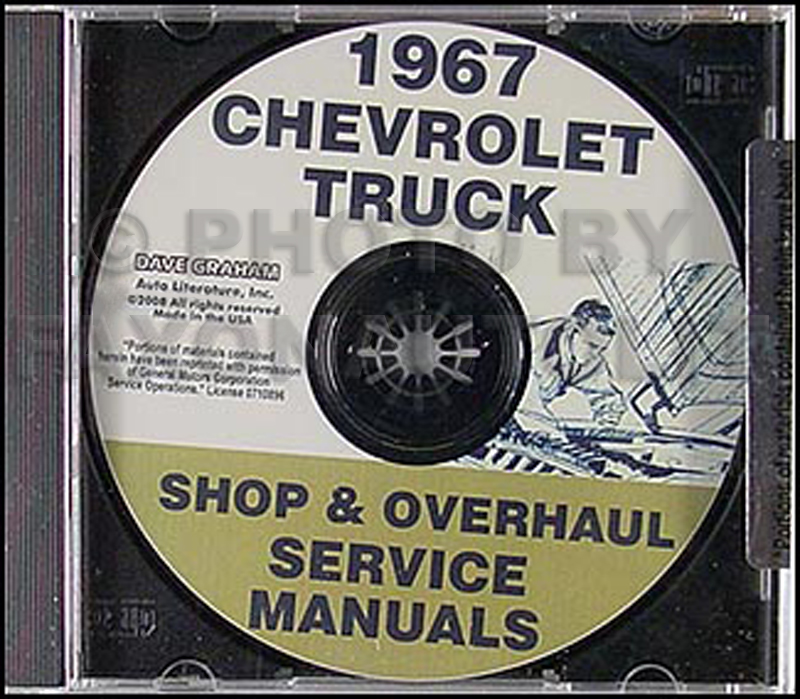 1967 Chevrolet 10-60 Pickup and Truck Shop and Overhaul Manual CD
