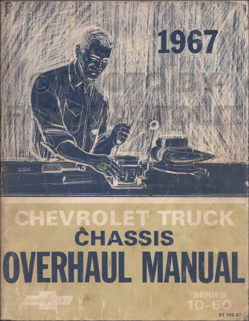 1967 Chevy 10-60 Truck Engine & Transmission Overhaul Manual Original