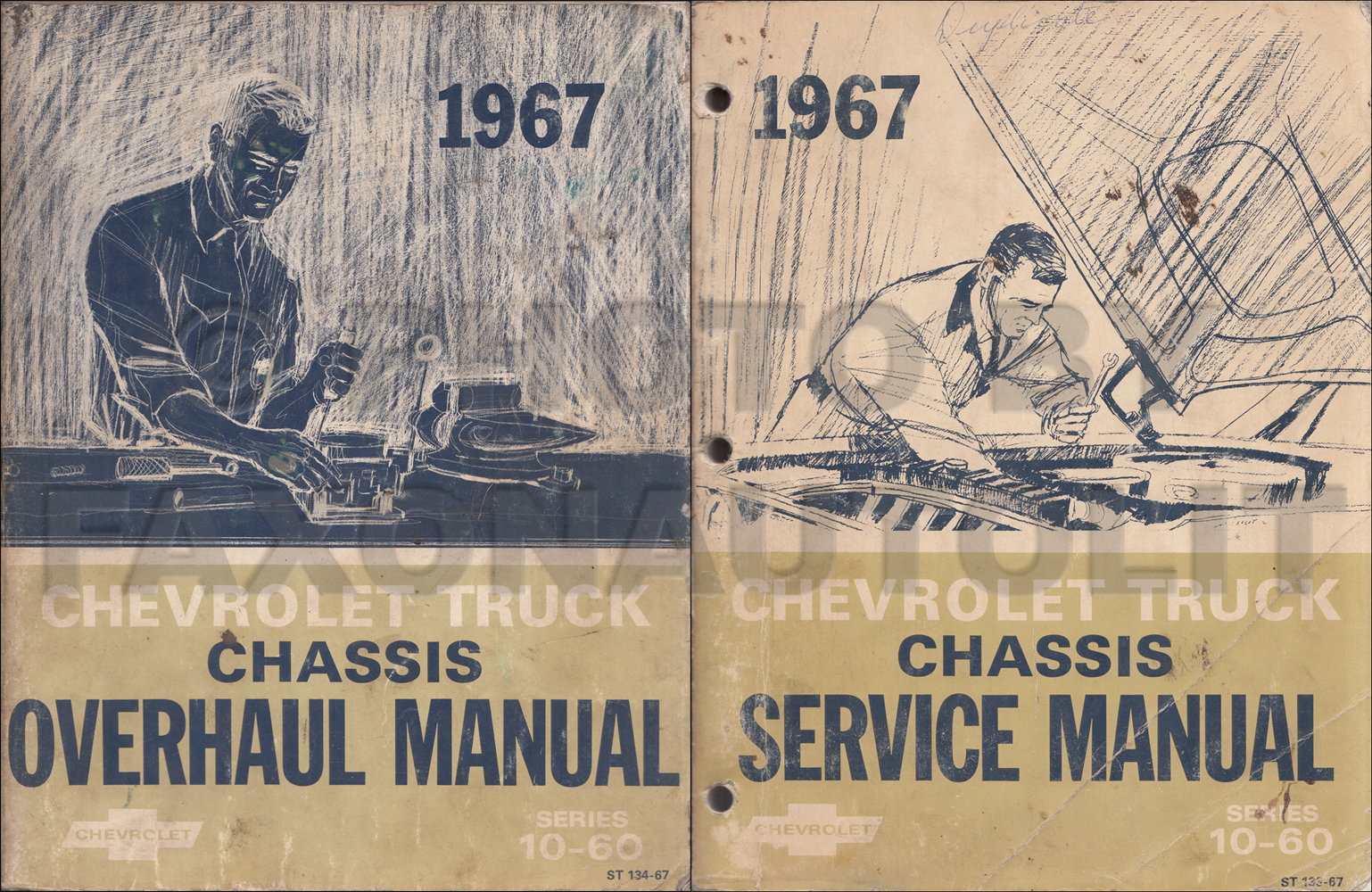 1967 Chevy 10-60 Truck Repair Shop Manual & Overhaul manual Original Set