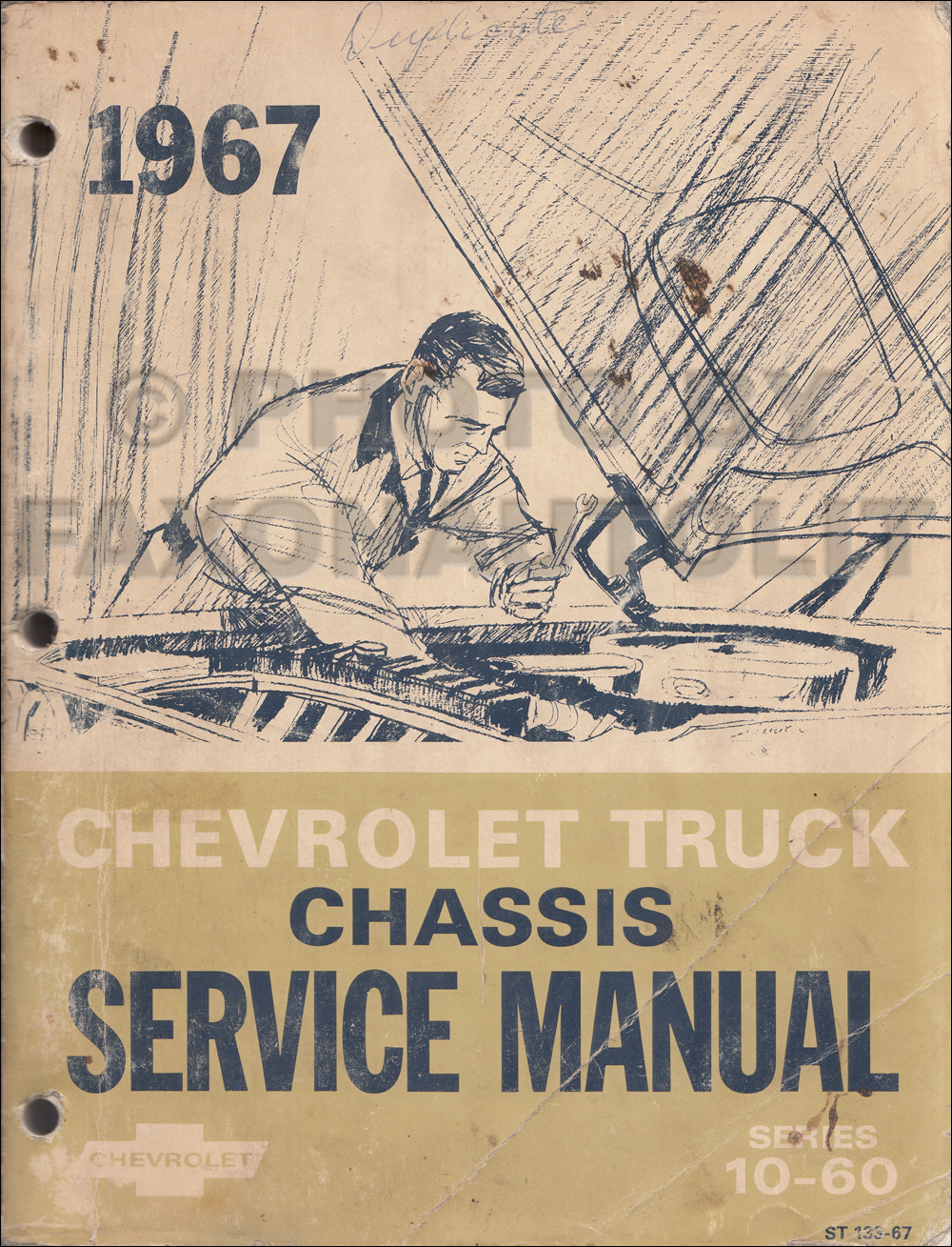 1967 Chevy 10-60 Truck Shop Manual Original