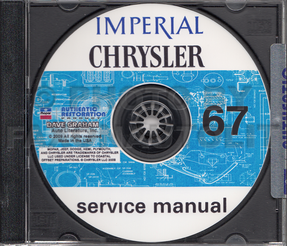 1967 Chrysler and Imperial Shop Manual on CD