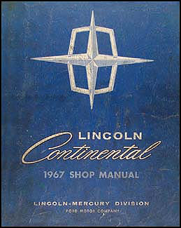 1967 Lincoln Continental Shop Manual Original