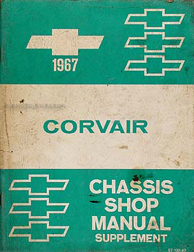 1967 Chevrolet Corvair Car Shop Manual Original Supplement