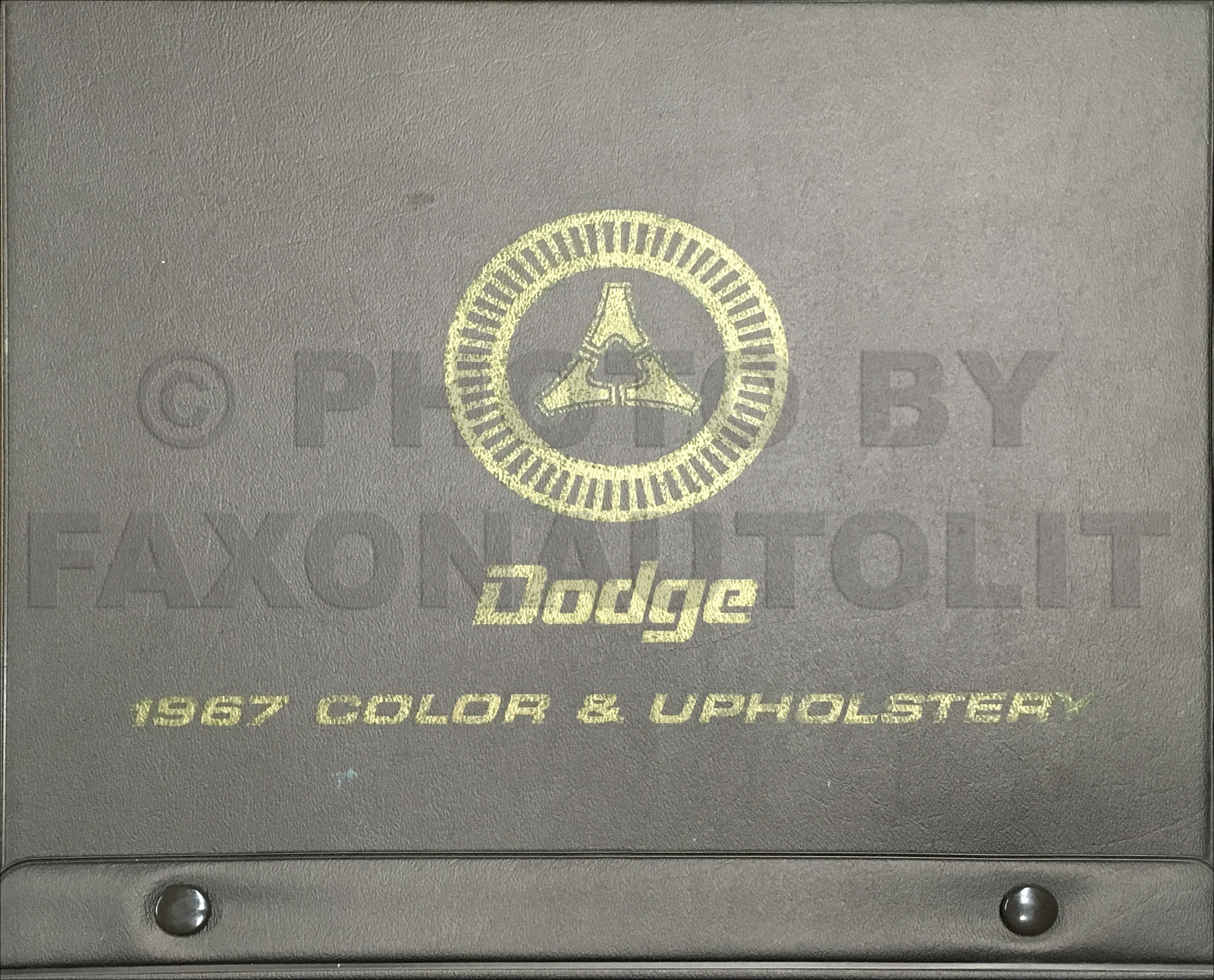 1967 Dodge Color & Upholstery Dealer Album Original