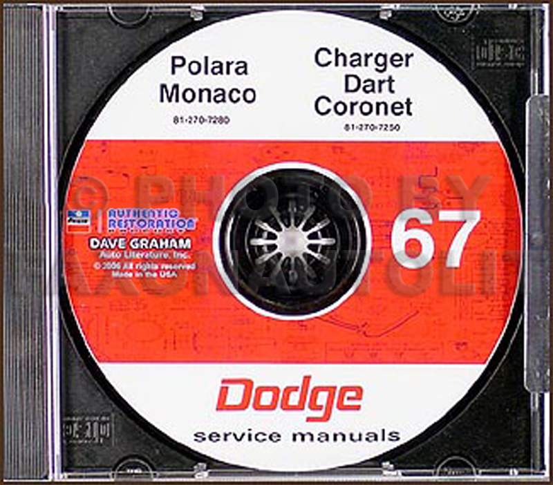 1967 Dodge CD Shop Manual for all models