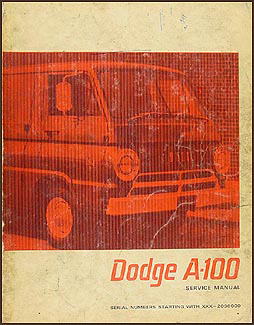 1967 Dodge A-100 Van & Sportsman Repair Manual Original