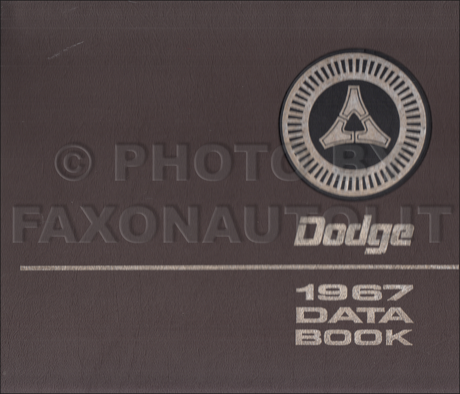 1967 Dodge Data Book Original
