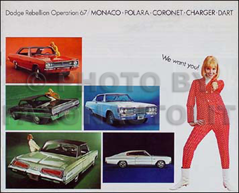 1967 Dodge Original Sales Catalog Coronet, R/T, Charger, Dart, Polara, Monaco