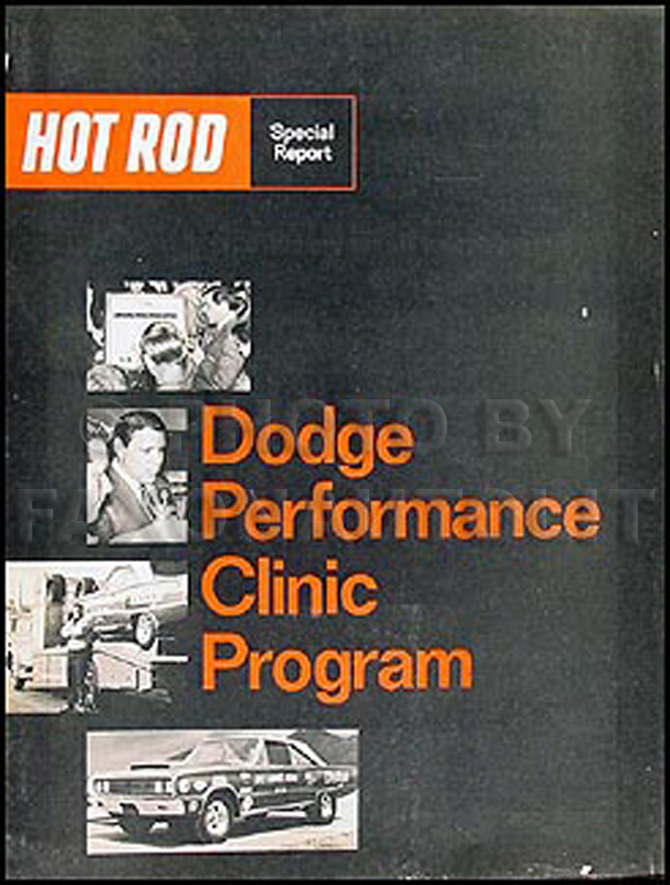1967 Dodge Hot Rod Performance Clinic Program Original Sales Catalog