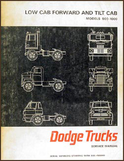 1967 Dodge Tilt Cab Truck Shop Manual Original 500-1000