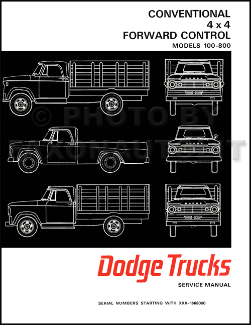 1967 Dodge Pickup Truck Shop Manual Reprint 2 Volume Set 100-800