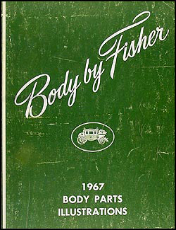 1967 Fisher Body Body Parts Illustrations Book Original
