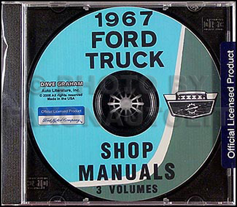 1967 Ford Truck Shop Manual Set on CD-ROM