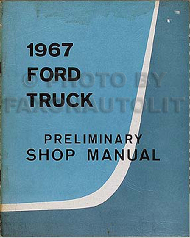1958 Ford Truck PRELIMINARY Repair Manual Original