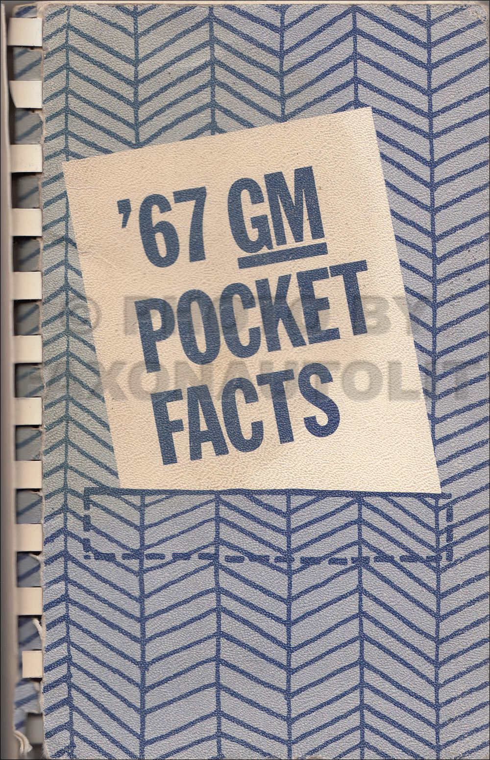 1967 GM Pocket Facts Book Original Canadian