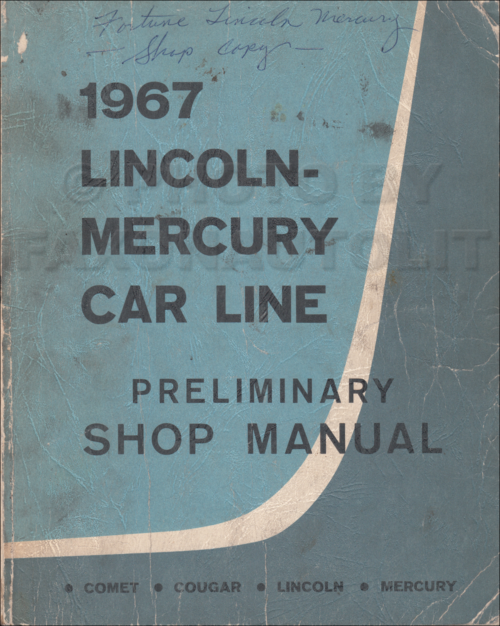1970 Ford Maverick Original Preliminary Shop Manual